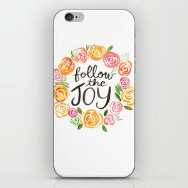 Follow the Joy with Yellow and Pink Roses iPhone Skin