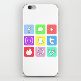 Social Media Icons iPhone Skin