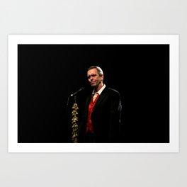 Hugh Laurie - I Art Print