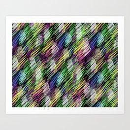 pattern crayon Art Print