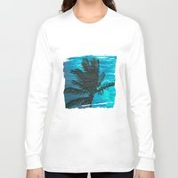 swimming Long Sleeve T-shirts featuring Swimming Palm by Catspaws