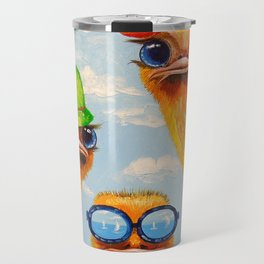 Ostriches friends Travel Mug