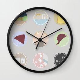 EVAK: A MINIMALIST LOVE STORY Wall Clock