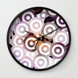 Purple Bullseye Wall Clock