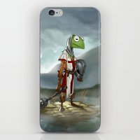 kermit iPhone & iPod Skins featuring Kermit the Knight by Alberto Camara