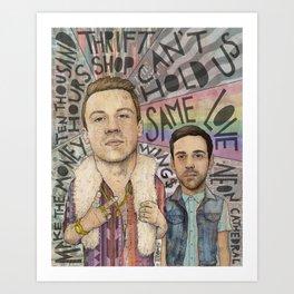 Macklemore & Ryan Lewis - The Heist Art Print