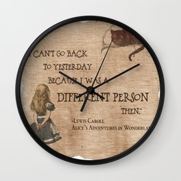 Alice is A Different Person Wall Clock