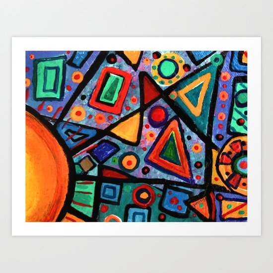 Abstract Sun Art Print
