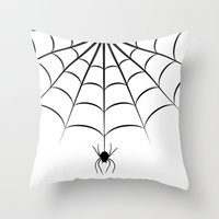 spider Throw Pillows featuring Spider by haroulita