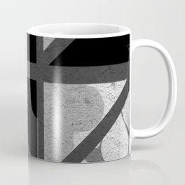 Cotton Textured Geometrical Abstract Design Coffee Mug