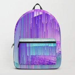 Flame - Pixel sort purple Backpack