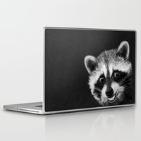 raccoon Laptop & iPad Skins featuring Raccoon  by Laura Graves