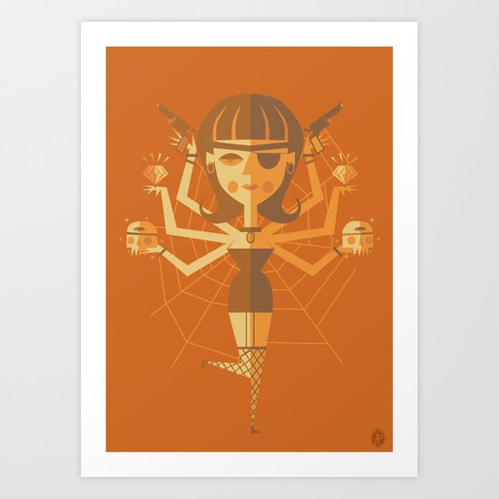 The Black Widow Art Print