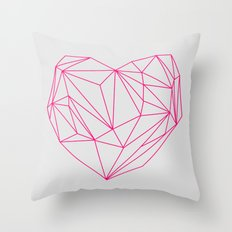 Heart Graphic Neon Version Throw Pillow