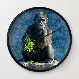 Gorilla Baby Shufai Wall Clock