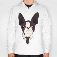 boston terrier Hoodies featuring Boston Terrier by brit eddy