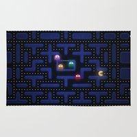 pacman Area & Throw Rugs featuring Pacman by Foxxya