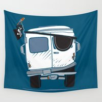 booty Wall Tapestries featuring The Booty Wagon by Brandon Ortwein