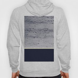 Navy Blue Pale Yellow on Navy Blue Concrete #1 #decor #art #society6 Hoody