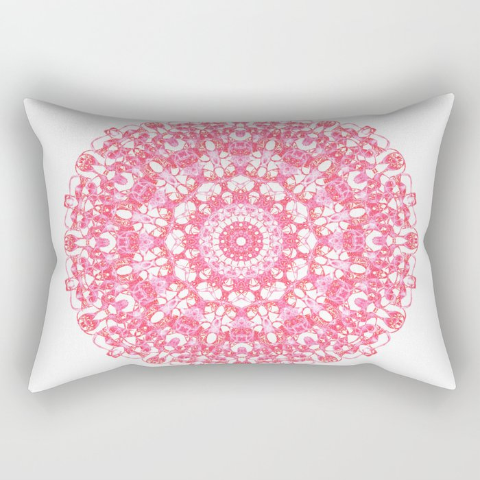Mandala 12 / 1 eden spirit ruby red Rectangular Pillow