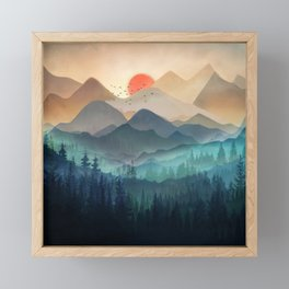 Wilderness Becomes Alive at Night Framed Mini Art Print
