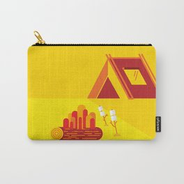 Camping in Yellow Carry-All Pouch