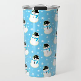 Christmas Snowman Cookies Travel Mug