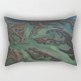 Intracoastal Waterway Marsh Maze Rectangular Pillow