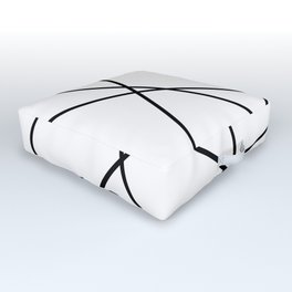 Lines in Chaos II - White Outdoor Floor Cushion