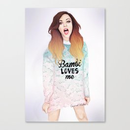 Jade loves Bamby Canvas Print
