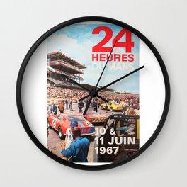Le Mans 1967, 24hs Le Mans, 1967, original vintage poster Wall Clock