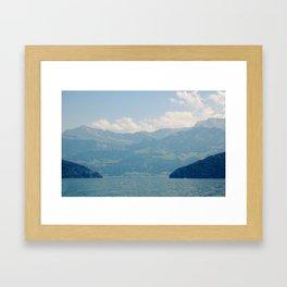 A Valley In Switzerland Framed Art Print