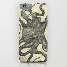 Black Brown Vintage Nautical Steampunk Octopus Slim Case iPhone 6s