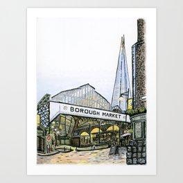 Borough Market, London Art Print
