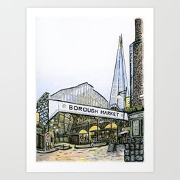 Borough Market, London Art Print