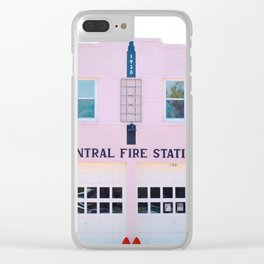 The Pink Fire Station Clear iPhone Case