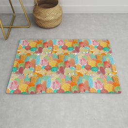 Love the forest watercolor illustration Rug
