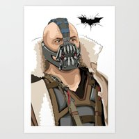 bane Art Prints featuring Bane by Thomas Moore