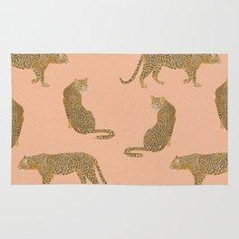 sunset leopards Rug