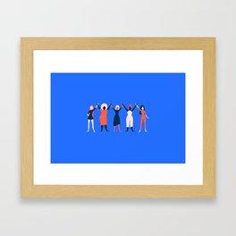 Girl Gang - Blue Framed Art Print