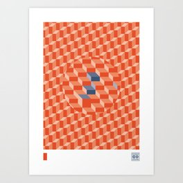 Stereo Sound - Red Art Print