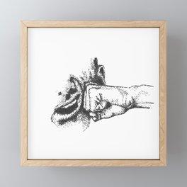 Clock Framed Mini Art Print