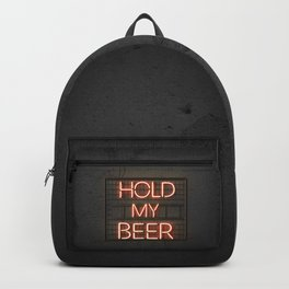 Hold My Beer Neon Bar Light Backpack