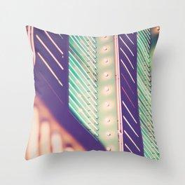 Turquoise Neon Throw Pillow