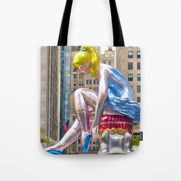 Seated Ballerina at Rockefeller Center 1 Tote Bag