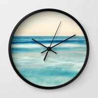 pastel Wall Clocks featuring pastel by Bonnie Jakobsen-Martin