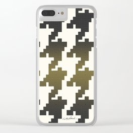 The Houndstooth Vault Clear iPhone Case