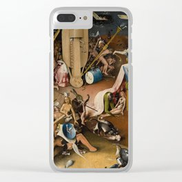 Visions of Hell by Heironymus Bosch Clear iPhone Case