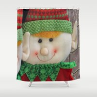 ginger Shower Curtains featuring Ginger Elf by IowaShots