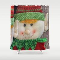 elf Shower Curtains featuring Ginger Elf by IowaShots